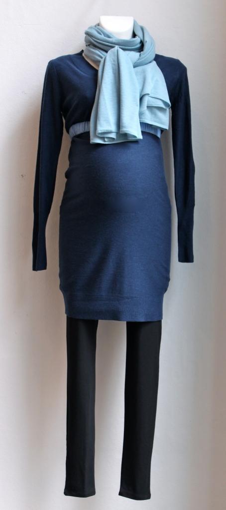 610e602e21c Sidder flot over maven både med og uden elastikbælte. Kan både bruges med  leggings, jeans eller strømpebukser.