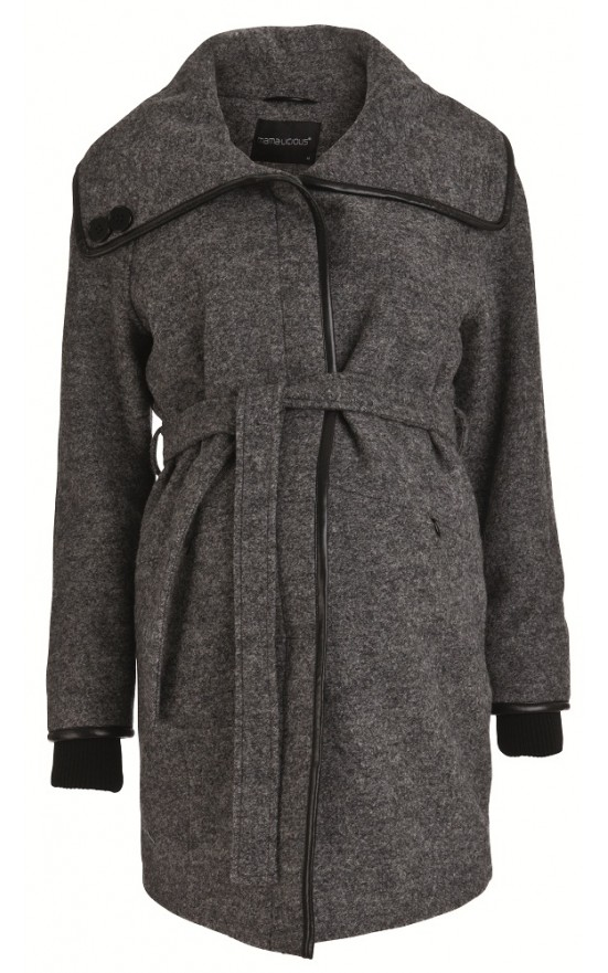 uld-jakke fra mamalicious i strut