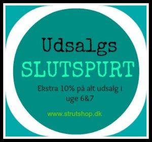 10% ekstra på alt udsalg på strutshop.dk