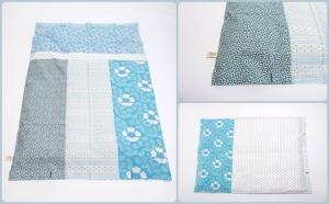 blåt sengetøj Collage