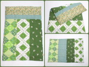 grønt sengetøjCollage
